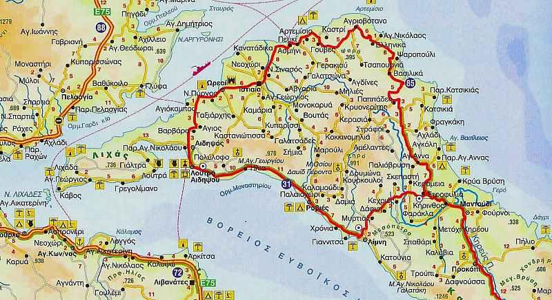Βόρεια Εύβοια Χάρτης.