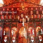 Στροφυλιά, εκκλησία της Αγίας Τριάδας, ξυλόγλυπτο τέμπλο.